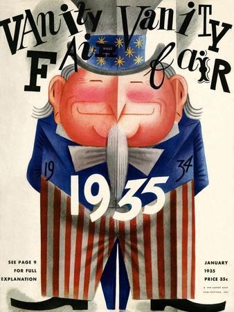 Vanity Fair Cover - January 1935