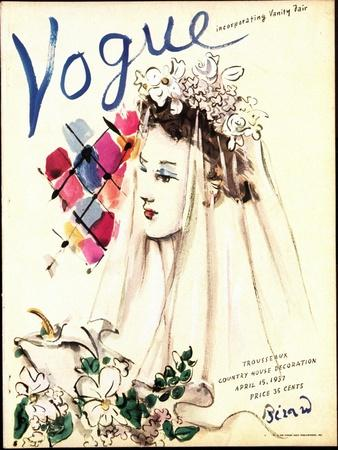 Vogue Cover - April 1937 - Spring Wedding