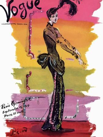 Vogue Cover - September 1939 - Parisian Rainbow