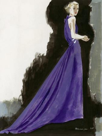 Vogue - March 1934 - Purple Gown
