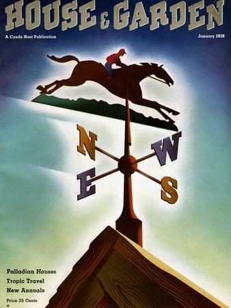 House & Garden Cover - January 1938