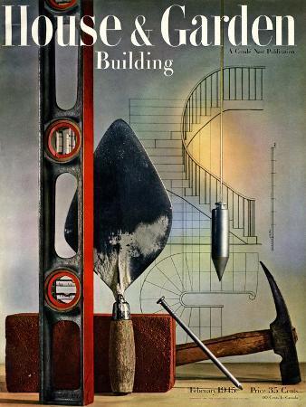 House & Garden Cover - February 1945