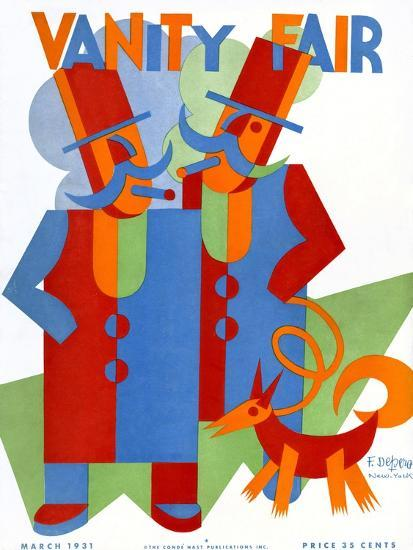 f9172bfb53 Vanity Fair Cover - March 1931 Premium Giclee Print by Depero at  AllPosters.com