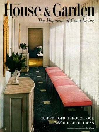 House & Garden Cover - January 1953