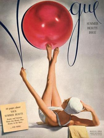 Vogue Cover - May 1941 - Having a Ball