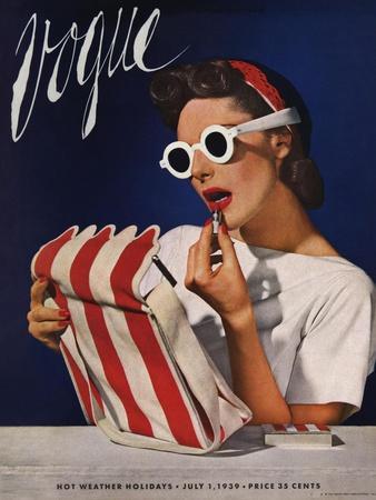 Vogue Cover - July 1939 - Lipstick, Quick!
