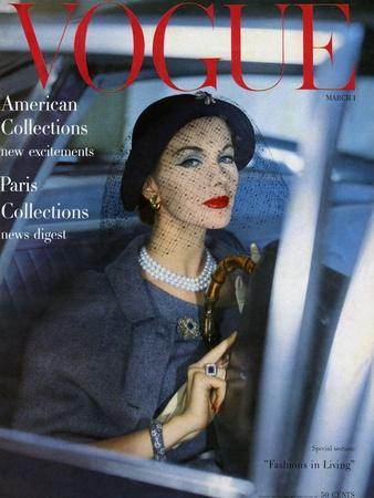 Vogue Cover - March 1957 - Stylish Ride