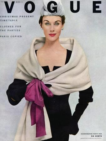 Vogue Cover - November 1952 - Tied with a Bow