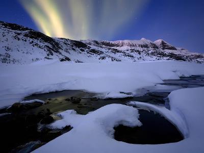 Northern Lights in Skittendalen Valley, Troms County, Norway
