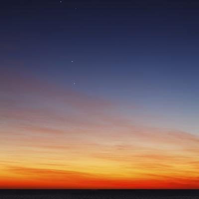Conjunction of Venus, Mercury, Jupiter and Mars at Dawn