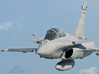 A Rafale B of the French Air Force in Flight over Brazil