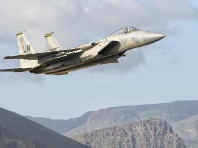 A U.S. Air Force F-15C Eagle in Flight over Spain