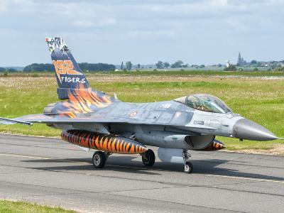 A Turkish Air Force F-16C Fighting Falcon on the Flight Line at Cambrai Air Base, France