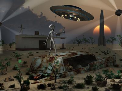 Artist's Concept of a Science Fiction Alien Landscape