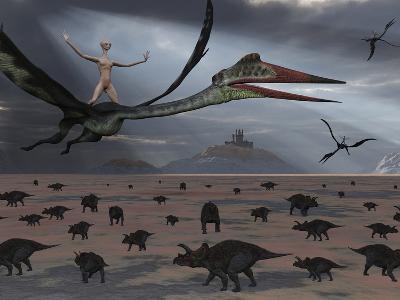 Reptoids Ride on the Backs of Quetzalcoatlus Using Telepathy
