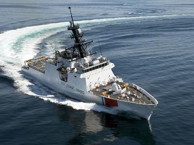 U.S. Coast Guard Cutter Waesche in the Navigates the Gulf of Mexico