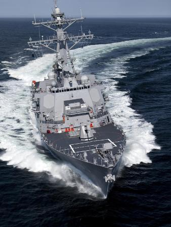 The Pre-Commissioning Unit Jason Dunham Conducts Sea Trials in the Atlantic Ocean