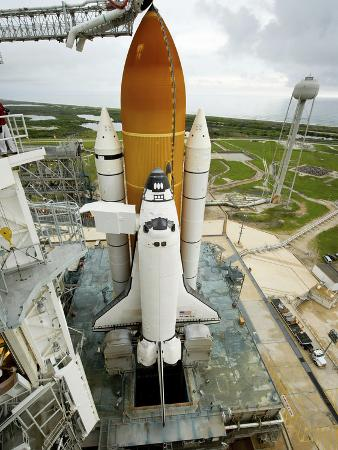 Space Shuttle Atlantis on the Launch Pad at Kennedy Space Center, Florida