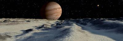 Jupiter's Large Moon, Europa, is Covered by a Thick Crust of Ice
