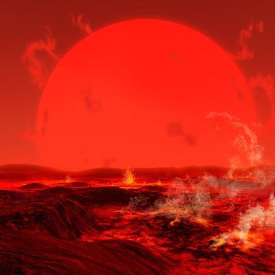The Sun Seen from a Molten Earth 3 Billion Years from Now