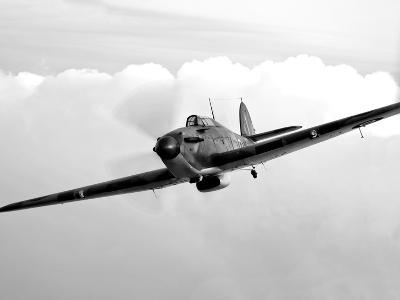 A Hawker Hurricane Aircraft in Flight
