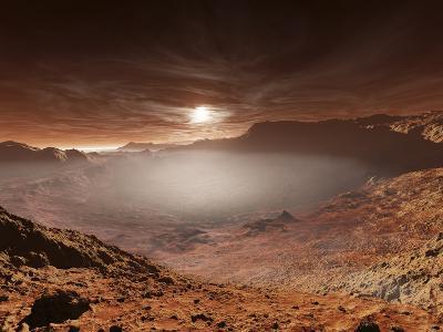 The Sun Sets over the Eberswalde Region of Mars