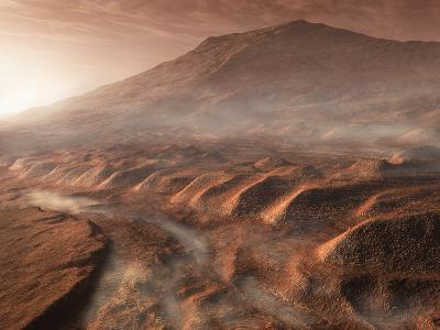 A Light Fog Forms in a Desiccated Gully in Gale Crater, Mars