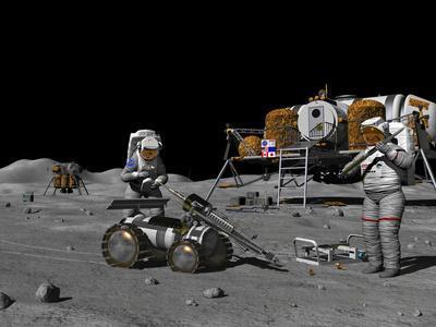 Artist's Concept of a Future Lunar Exploration Mission