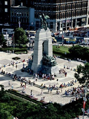 A High Angle View of Canada's War Memorial in Ottawa