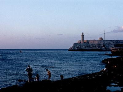 An Evening View Along the Malecon Near Central Havana