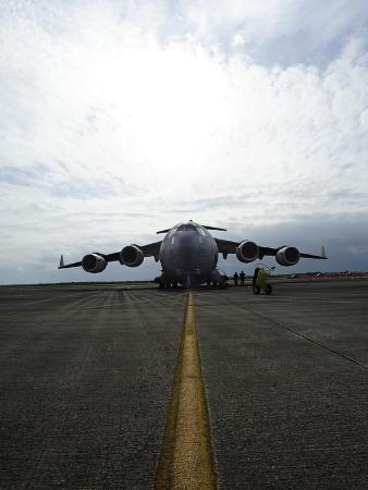 A C-17 Globemaster on the Runway