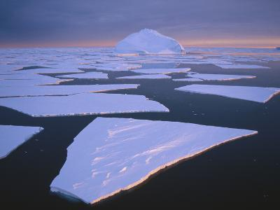 Broken Fast Ice, under Impending Midnight Storm, Edward VIII Bay, Kemp Coast, East Antarctica