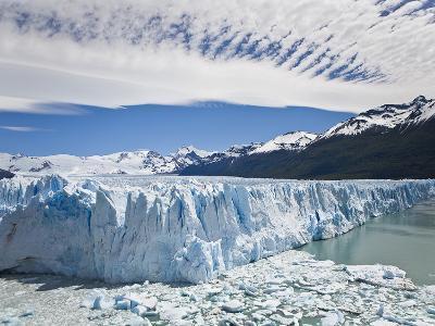 The Massive Perito Moreno Glacier Wall and Ice That Broke Off of It