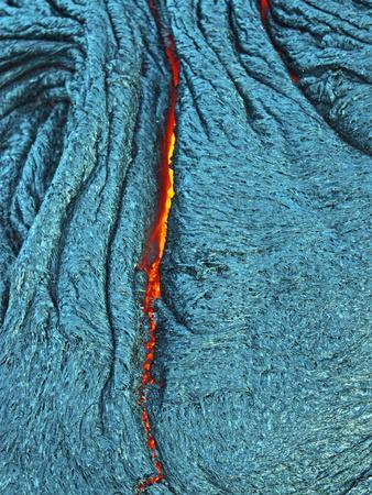 Detail of an Active Silver Pahoehoe Lava Flow