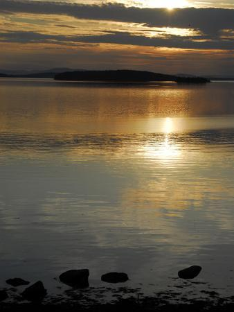 Sunset over the Calm Waters of Penobscot Bay, Maine