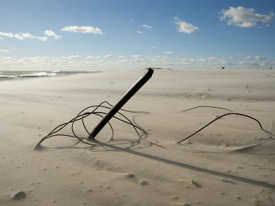 The Remains of a Fence, Knocked Down by Heavy Atlantic Storm Surges