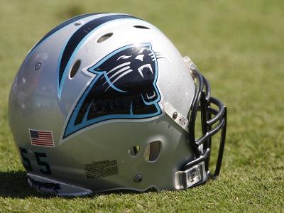 Eagles Panthers Football: Charlotte, NC - Carolina Panthers helmet