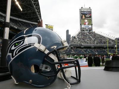 Cardinals Seahawks Football: Seattle, WA - Seattle Seahawks Helmet