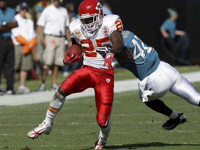 Chiefs Jaguars Football: Jacksonville, FL - Jamaal Charles