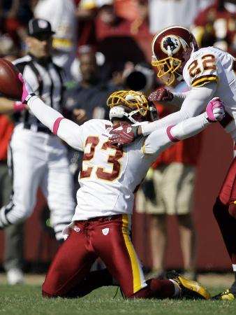 Buccaneers Redskins Football: Landover, MD - DeAngelo Hall