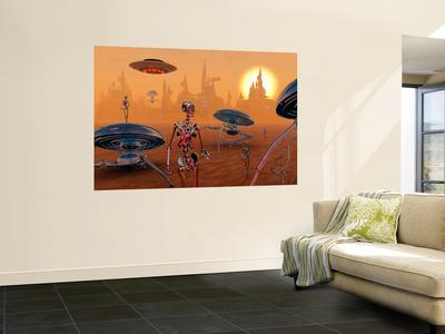 Artist's Concept of Life on Mars Long Ago