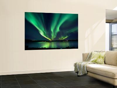Aurora Borealis over Tjeldsundet in Troms County, Norway