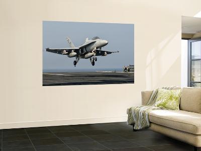A Us Navy F/A-18C Hornet Prepares to Land Aboard Uss Eisenhower
