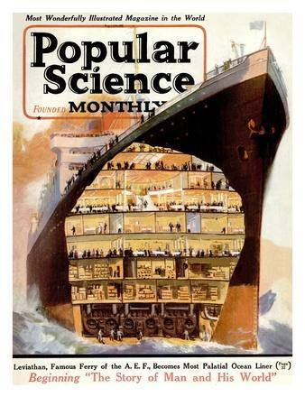 Front Cover of Popular Science Magazine: January 1, 1920