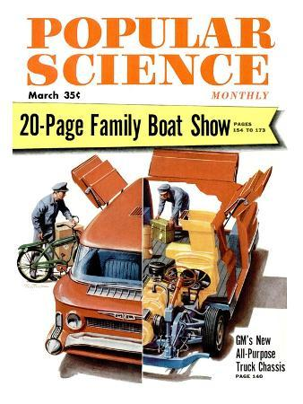 Front cover of Popular Science Magazine: March 1, 1950