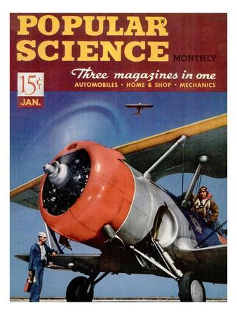 Front cover of Popular Science Magazine: January 1, 1940