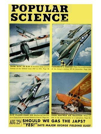 Front cover of Popular Science Magazine: August 1, 1940
