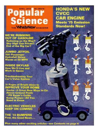 Front cover of Popular Science Magazine: April 1, 1973