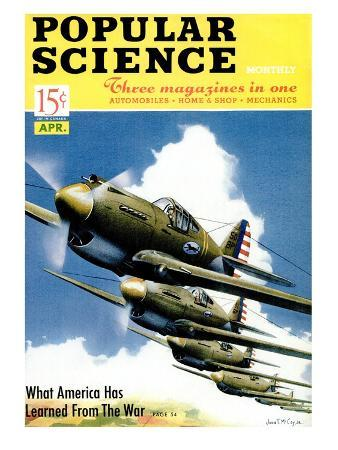 Front cover of Popular Science Magazine: April 1, 1940