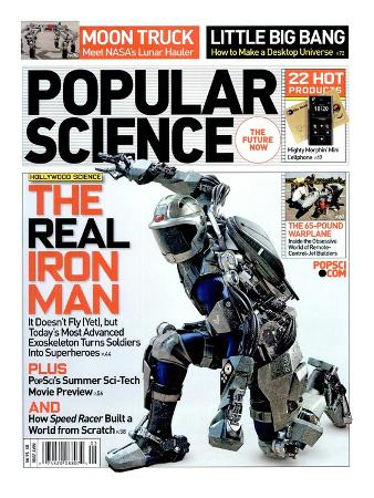 Front cover of Popular Science Magazine: May 1, 2008